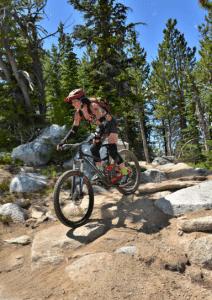 Mountain biker in Mount Emily Recreation Area
