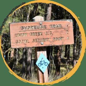 Hiking and Biking trails around Phillips lake