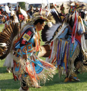 Native American Heritage displayed in the Pow Wow