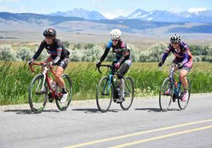 Cyclists on the Elkhorn Scenic Byway